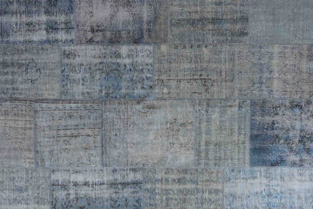 Vintage Patchwork Rug blue smoke