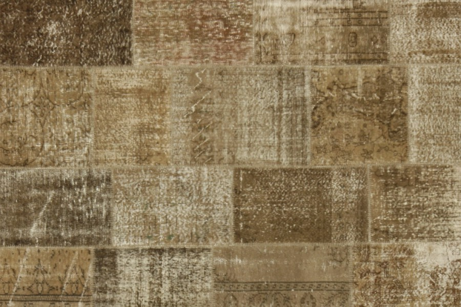 Vintage Patchwork Rug brown