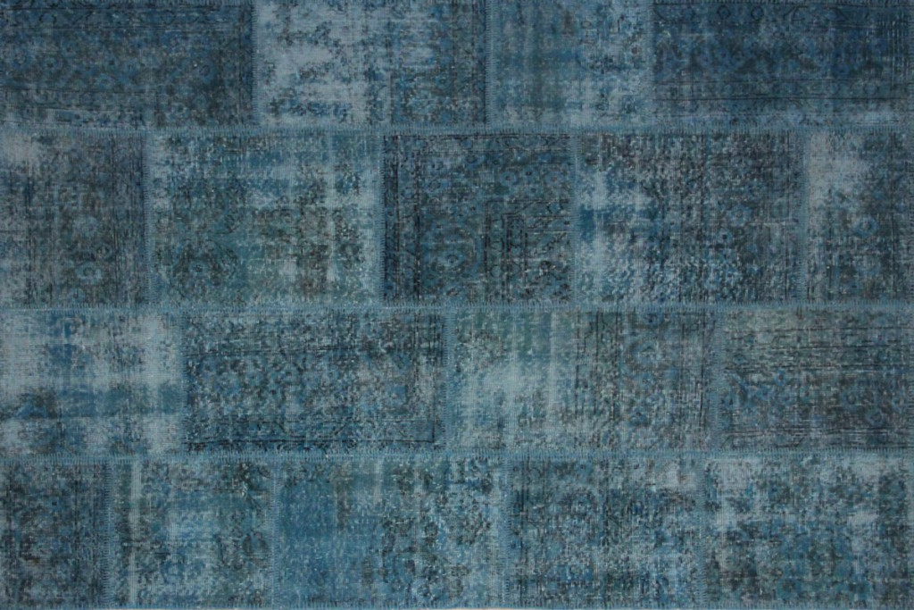 Vintage Patchwork Rug dark blue