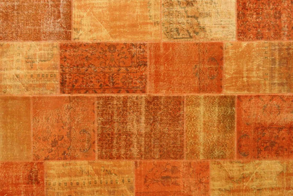 Vintage Patchwork Rug Orange