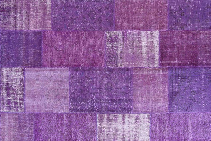 Vintage Patchwork Rug Purple