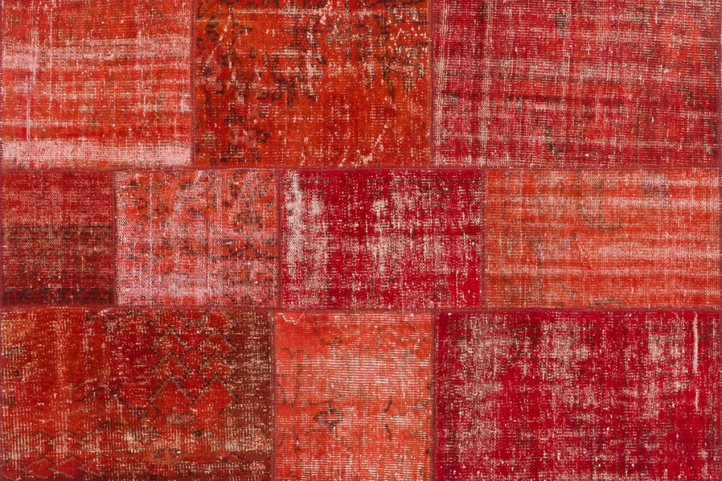 Vintage Patchwork Rug Red