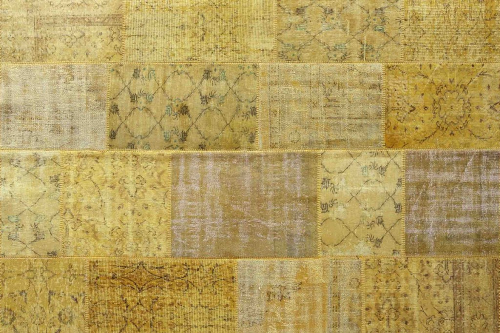 Vintage Patchwork Rug Yellow